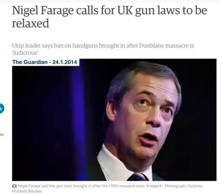 Farage gun laws
